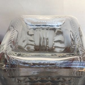 Vintage Kitchen - AHSG Co. Patterned Textured Glass Canister Lid